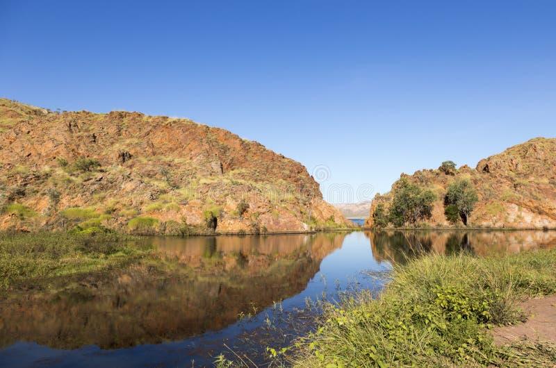 O lago Argyle é Austrália Ocidental a maior e o segundo de Austrália - o reservatório sintético de água doce o maior pelo volume  imagem de stock royalty free