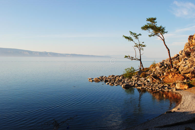 O Lago Baikal fotografia de stock