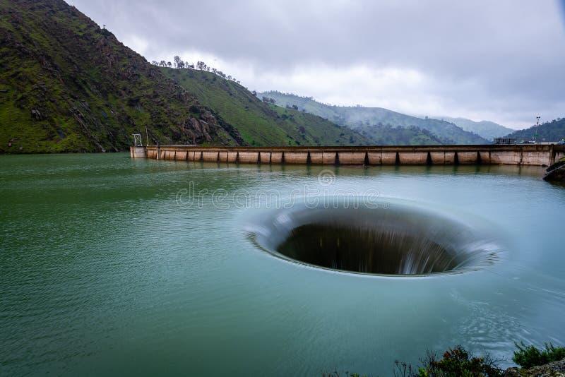 O lago Berryessa Glory Hole imagens de stock royalty free