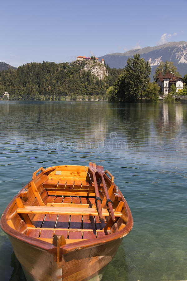 O lago Bled fotos de stock royalty free