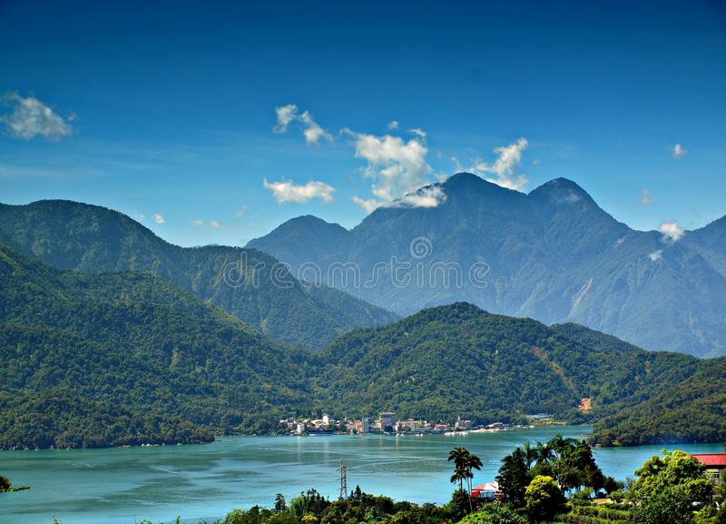 O lago bonito moon de Sun em Taiwan fotografia de stock royalty free