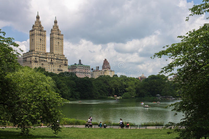 O lago de Central Park New York City foto de stock