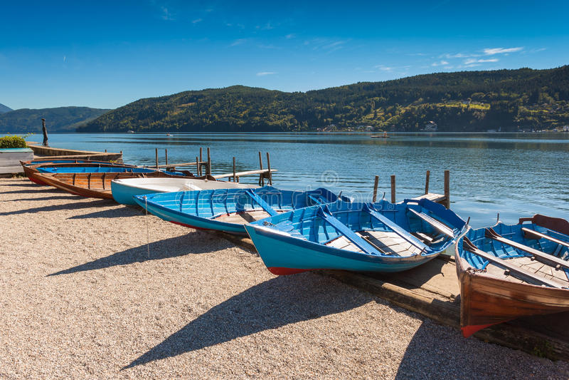 O lago de Millstatt foto de stock royalty free