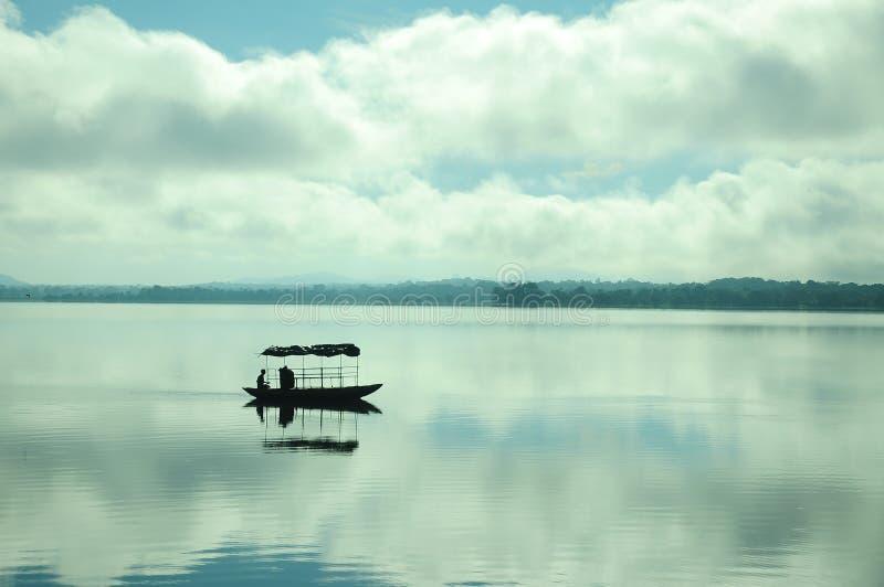 O lago de minha vida dê a feliz em minha vida fotografia de stock