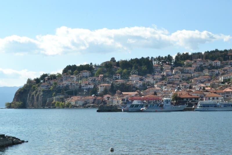 O lago de Ohrid foto de stock