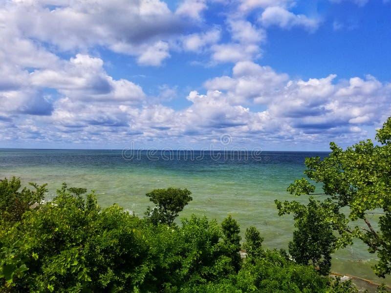 O Lago Erie fotos de stock