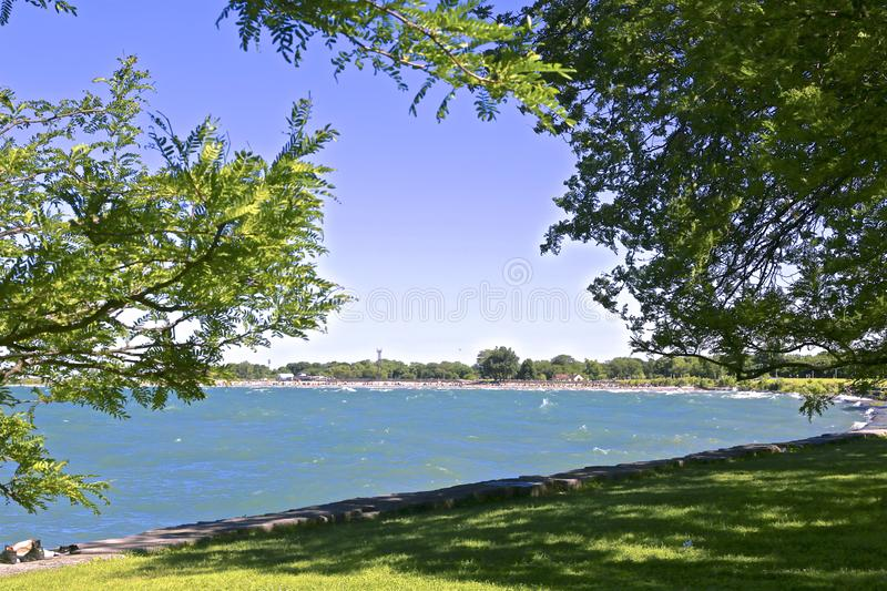 O Lago Michigan Illinois foto de stock royalty free