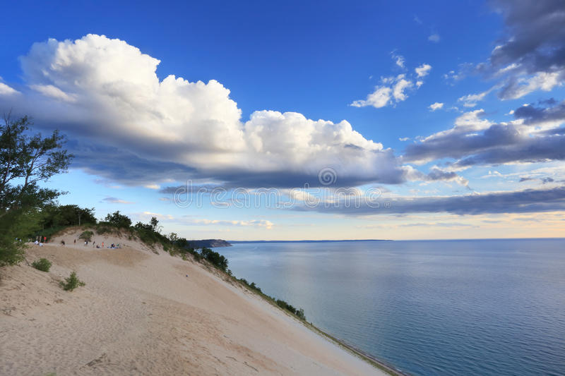 O lago Michigan negligencia fotografia de stock royalty free