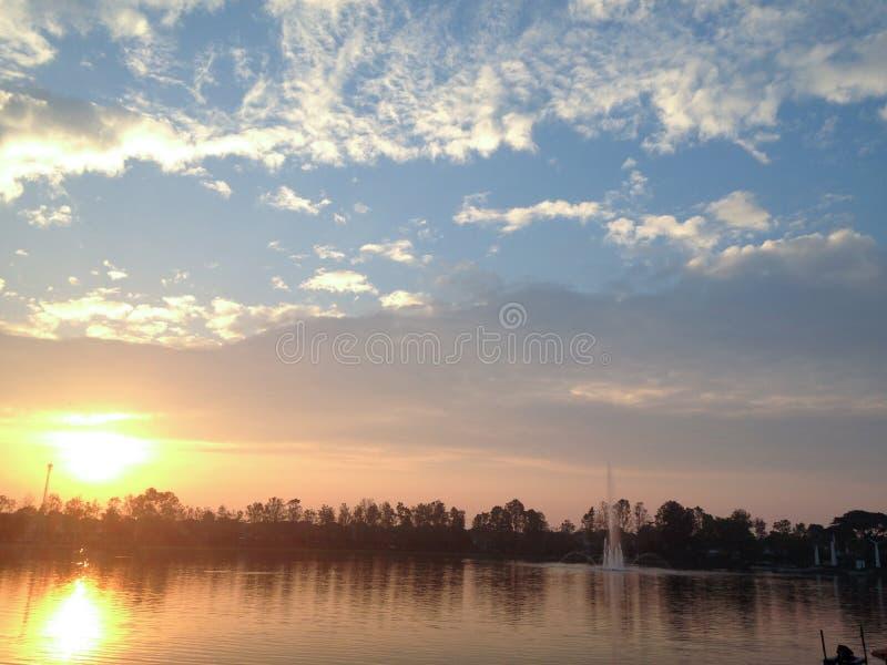 O lago morning imagem de stock