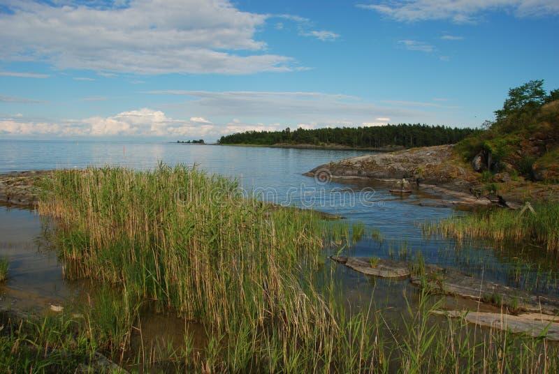 O lago o maior Vanern na Suécia fotos de stock royalty free