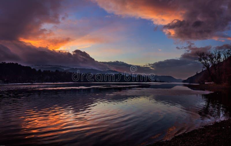 O lago Pancharevo, Sófia, Bulgária foto de stock royalty free