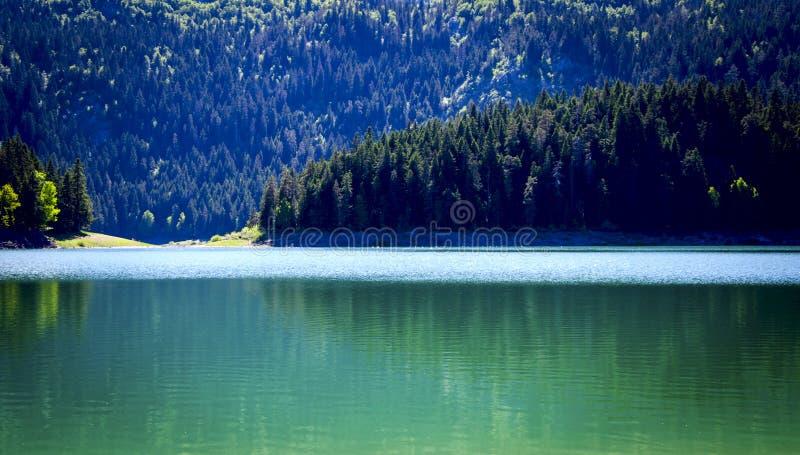 O lago preto do parque de Durmitor montenegro fotos de stock royalty free