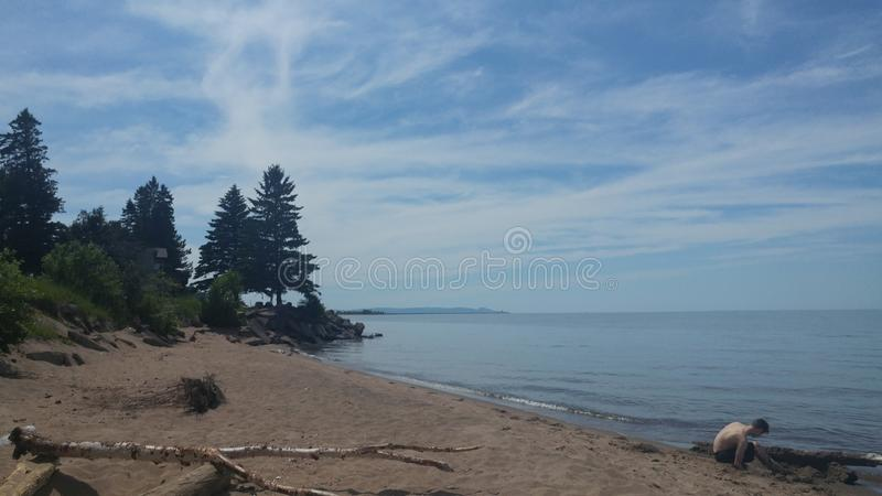 O Lago Superior fotos de stock royalty free