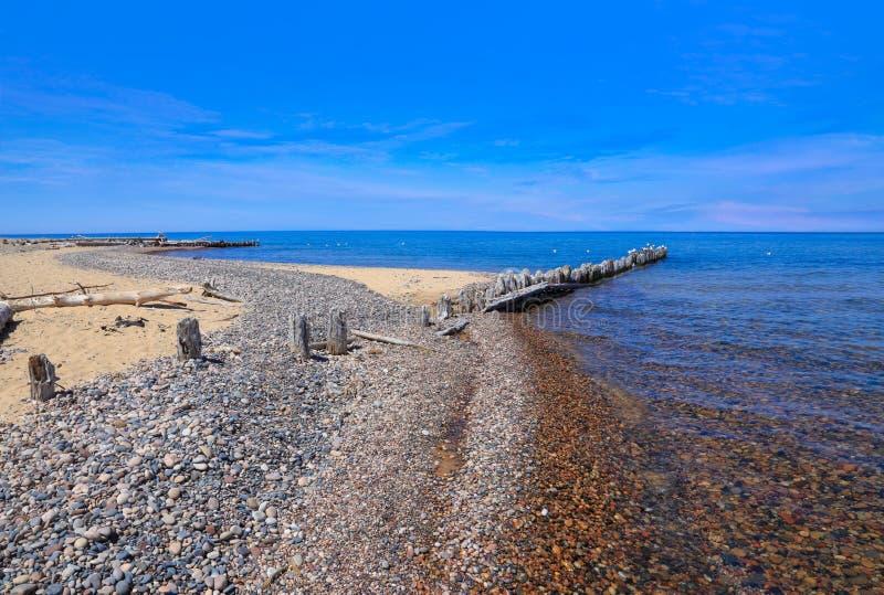 O Lago Superior no ponto do peixe branco fotografia de stock