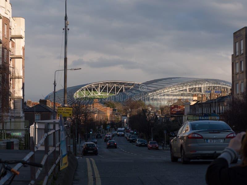 O Lansdowne Road/Aviva Stadium Rugby moeu em Dublin, Irlanda fotografia de stock