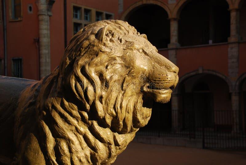 O leão de Lyon, France imagens de stock