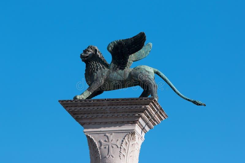 O leão de St Mark, Veneza, Itália fotografia de stock royalty free