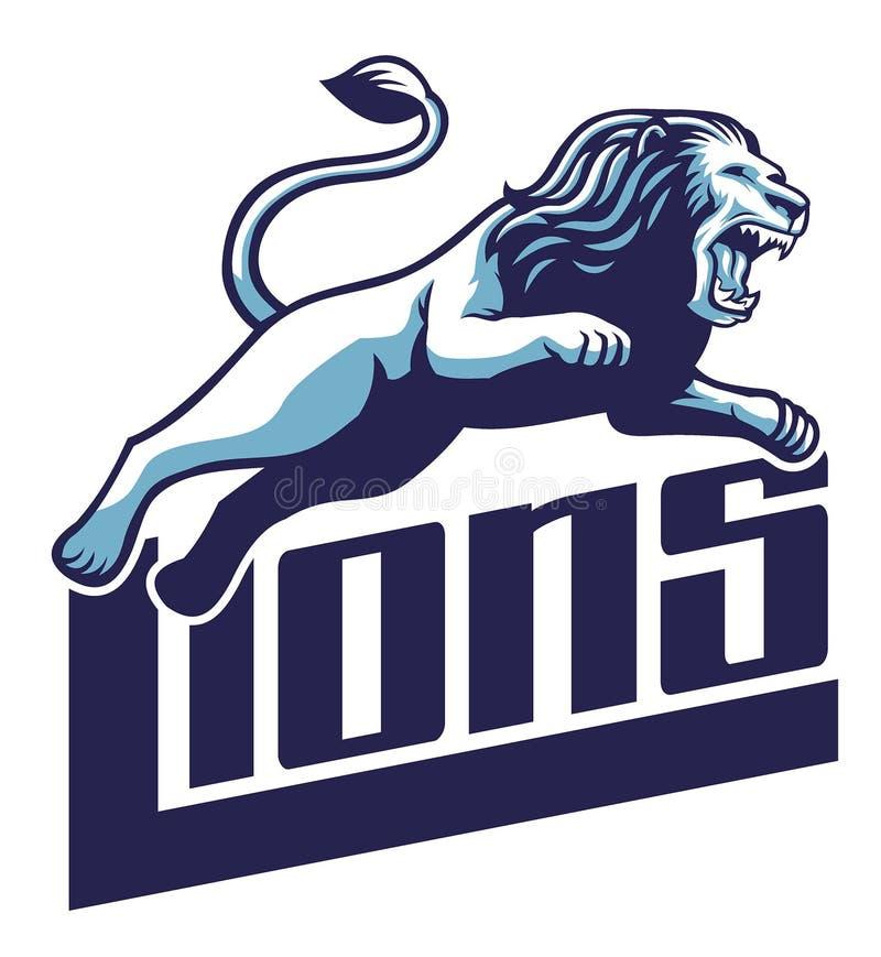 O leão salta ilustração stock