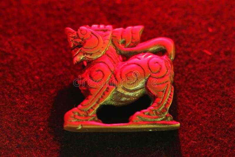 O leão vermelho imagens de stock
