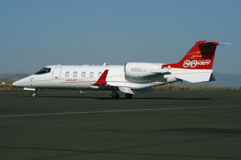 O Learjet 60XR fotos de stock