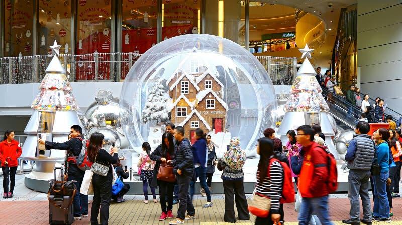 O Lee jardina decoração do Natal, Hong Kong fotografia de stock royalty free