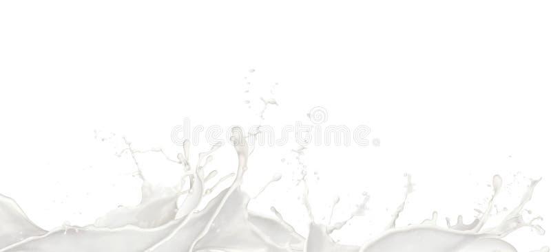 O leite espirra imagem de stock royalty free
