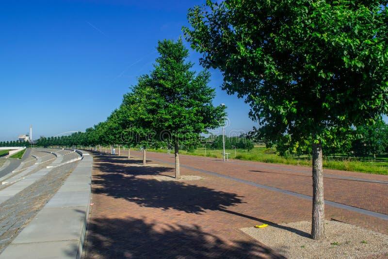 O Lentse Warande em Nijmegen fotografia de stock