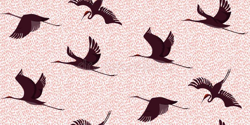 O leopardo Cranes o teste padrão ilustração do vetor