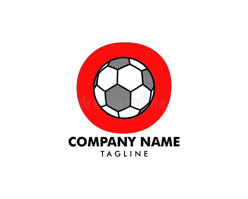 O letter logo, football ball logo design royalty free illustration