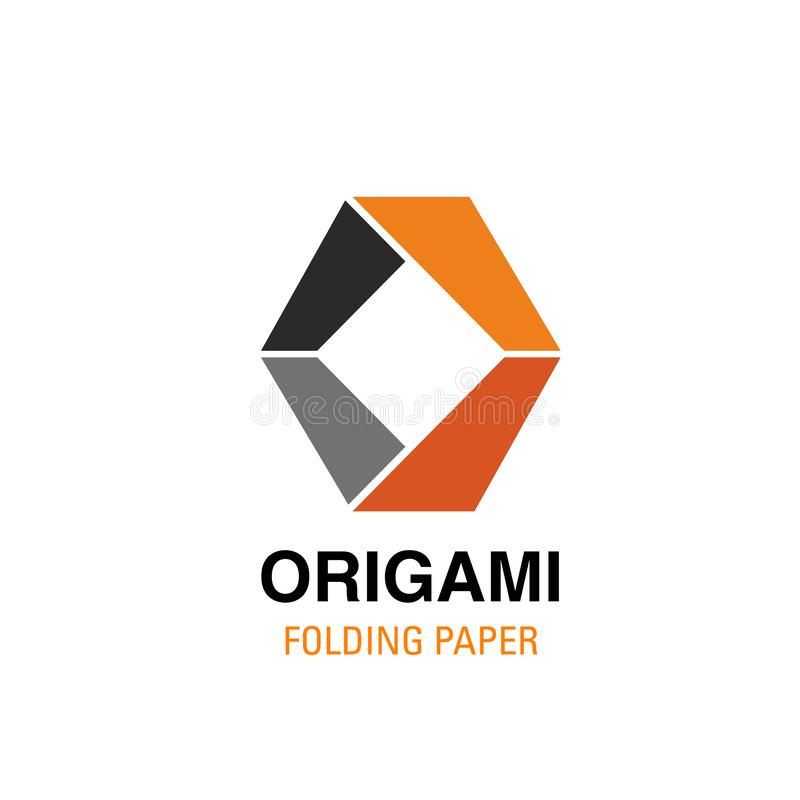 O letter vector icon for origami studio vector illustration
