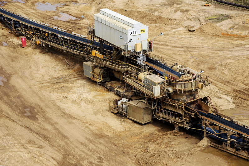 O lignite da mineração opencast de Garzweiler operou-se por RWE, Reno norte imagem de stock