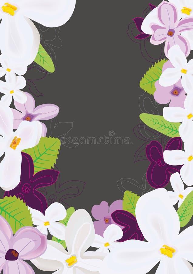 O Lilac floresce o estilo diferente ilustração stock