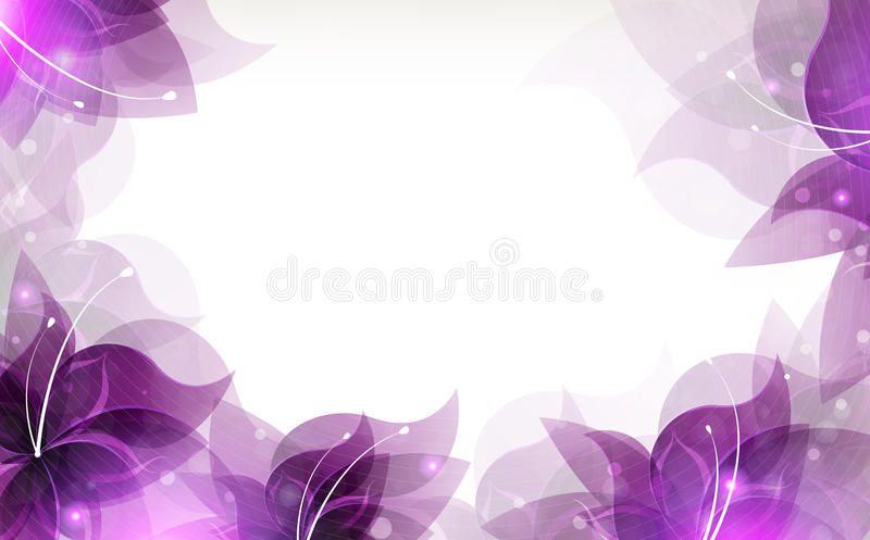 O Lilac floresce o fundo ilustração stock