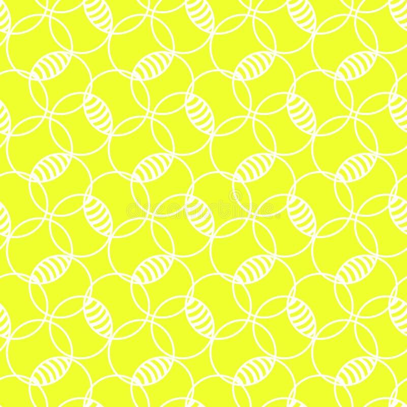 O limão borbulha teste padrão sem emenda ensolarado ilustração stock