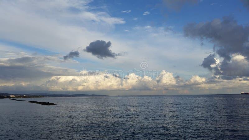 O Limassol bonito Molos em Chipre fotografia de stock