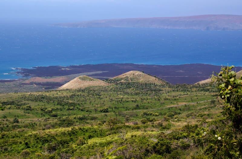 O litoral cênico da ilha de Maui, Havaí imagens de stock