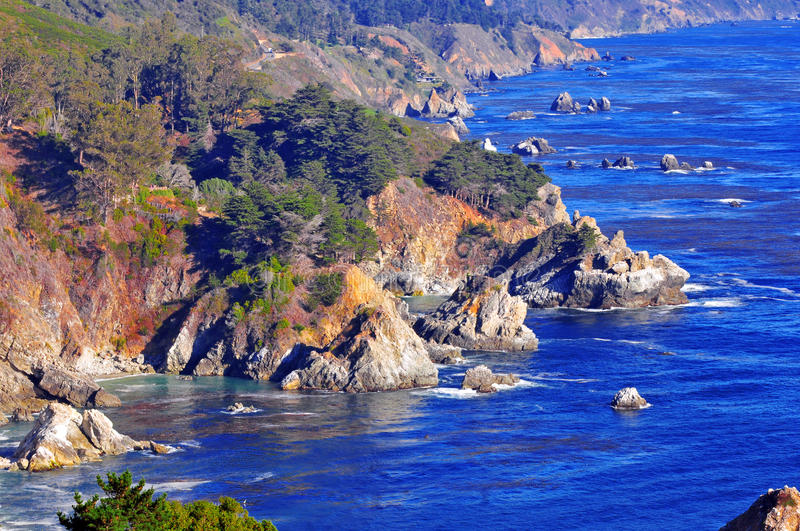 O litoral Califórnia de Big Sur fotos de stock