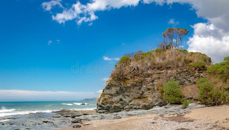O litoral de Tasmânia, beleza sem tocar fotografia de stock