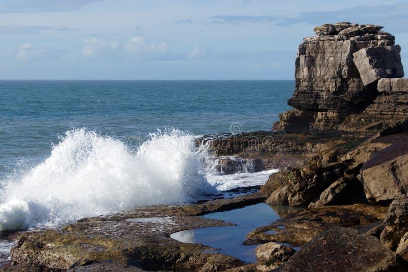 O litoral jurássico em Dorset foto de stock