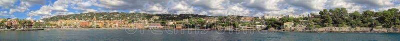 O litoral Ligurian que aproxima Santa Margherita Ligure foto de stock royalty free