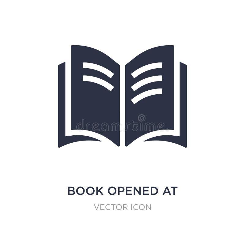 o livro abriu no ícone do centro no fundo branco Ilustração simples do elemento do conceito de UI ilustração do vetor