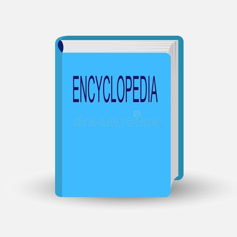 O livro com a enciclopédia da palavra, simulou 3D ilustração stock