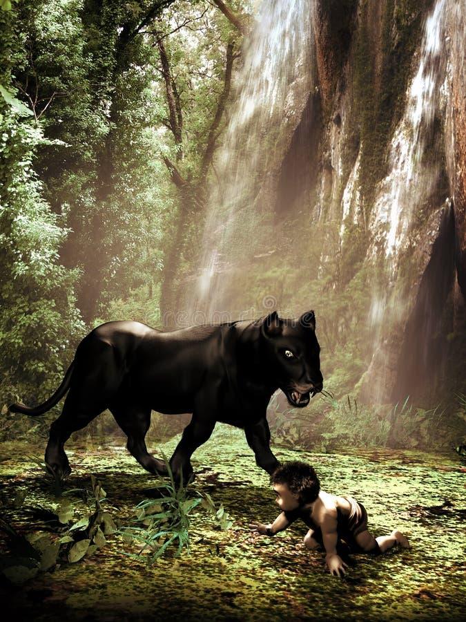 O livro da selva ilustração royalty free