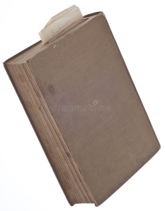 O livro do cozinheiro com receita Salmon do naco marcou um endereço da Internet imagens de stock