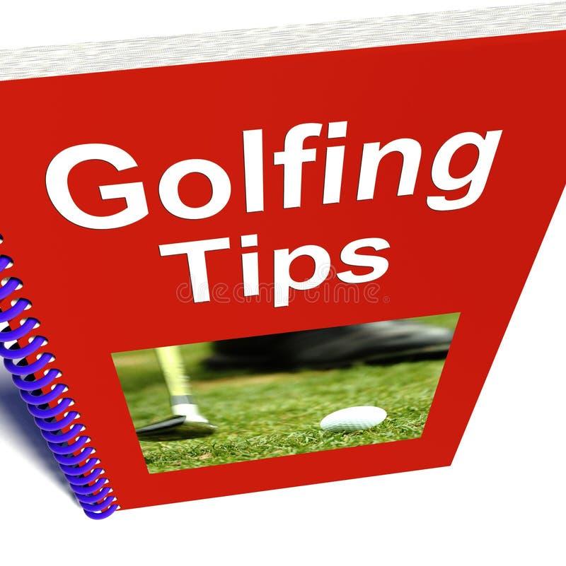 O livro Golfing das pontas mostra o conselho para jogadores de golfe ilustração stock