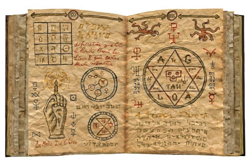 O livro mágico isolou 1 ilustração stock