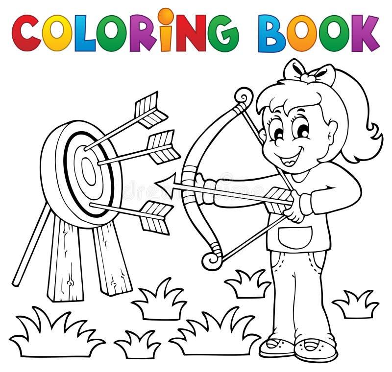 O livro para colorir caçoa o tema 3 do jogo ilustração royalty free
