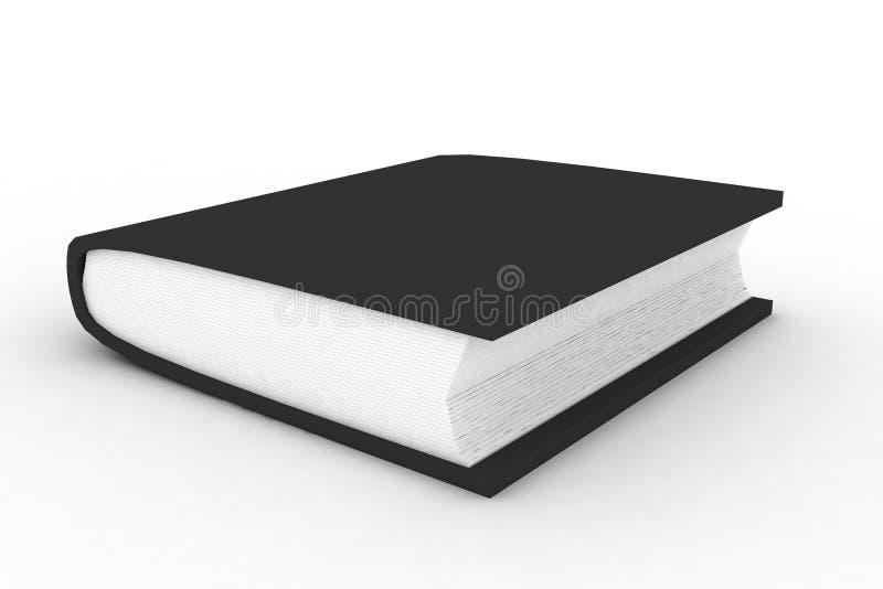 O livro preto ilustração do vetor