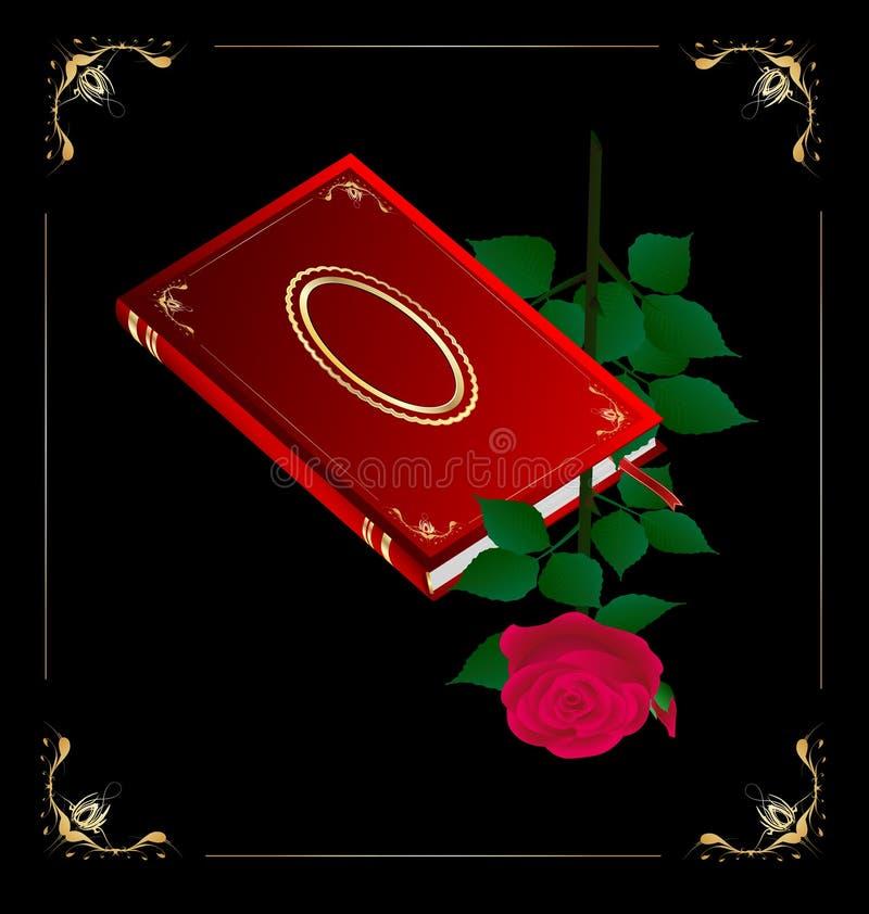 o livro vermelho e levantou-se ilustração do vetor