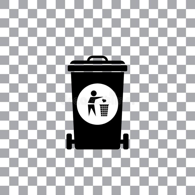 O lixo recicla o escaninho de lixo ilustração royalty free